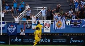 Gabarre dio un vital triunfo al Atlético Baleares. Twitter/atleticbalears