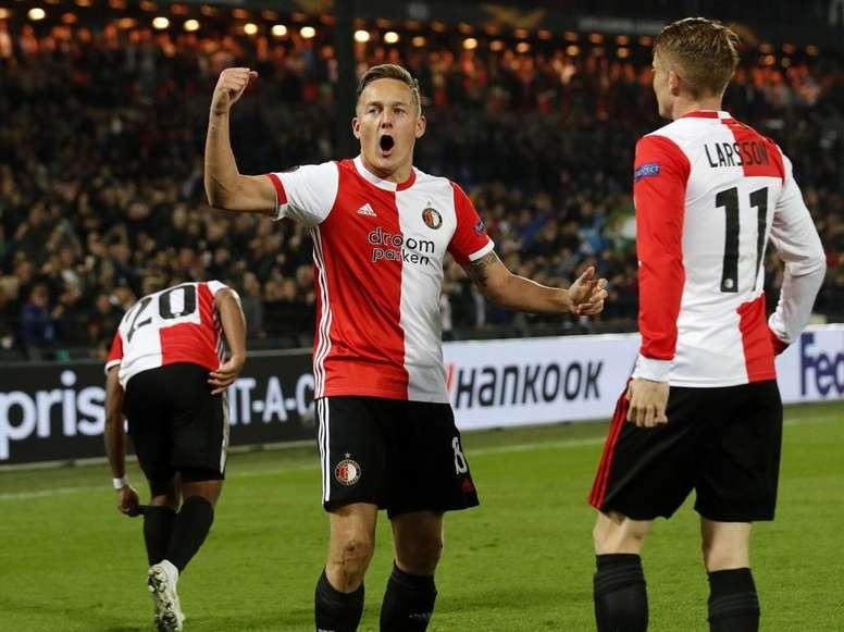 Sem perdão em Roterdã. Twitter/Feyenoord