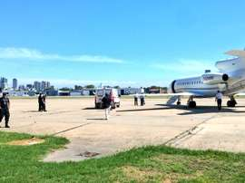 Toranzo, Mendoza y los demás heridos en el accidente en Venezuela llegaron en un jet privado a Argentina. Twitter