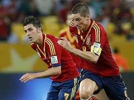 Torres y Villa formaron una dupla letal en la Selección. EFE/Archivo