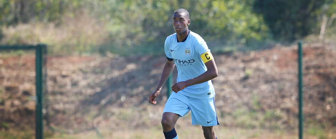 Adarabioyo has played in the Champions League and Premier League for City. Twitter/MCFC