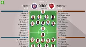 Toulouse-Dijon, Ligue 1, J2, 17/08/2019. BeSoccer