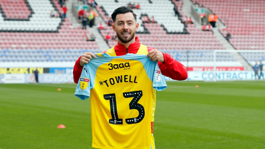 Towell has joined Rotherham on a season-long loan. Twitter/OfficialRUFC
