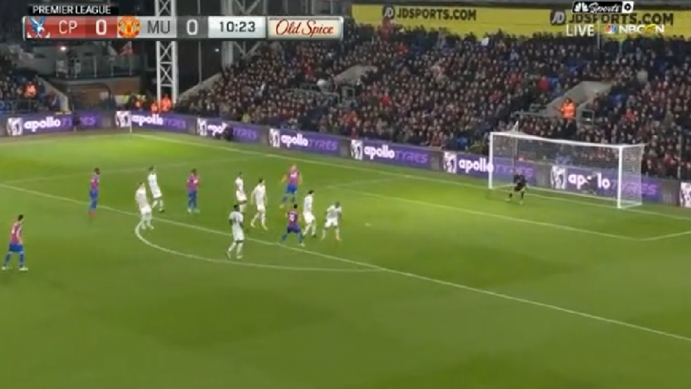Townsend scored Crystal Palace's opener against Manchester United. NBC