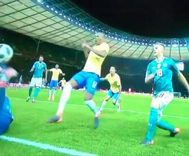 Gabriel Jesus colocou o Brasil a vencer por 0-1. Captura