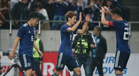 Le Japon a battu l'Uruguay. Twitter/JFA_samuraiblue