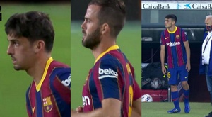 Trincao, Pjanic, and Pedri made their debuts. Screenshots/MovistarLaLiga