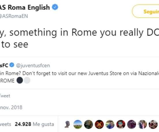 A Roma não perdoa. Twitter/RomaEnglish