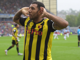 Troy Deeney gave Watford the lead after 48 minutes. Twitter/WatfordFC