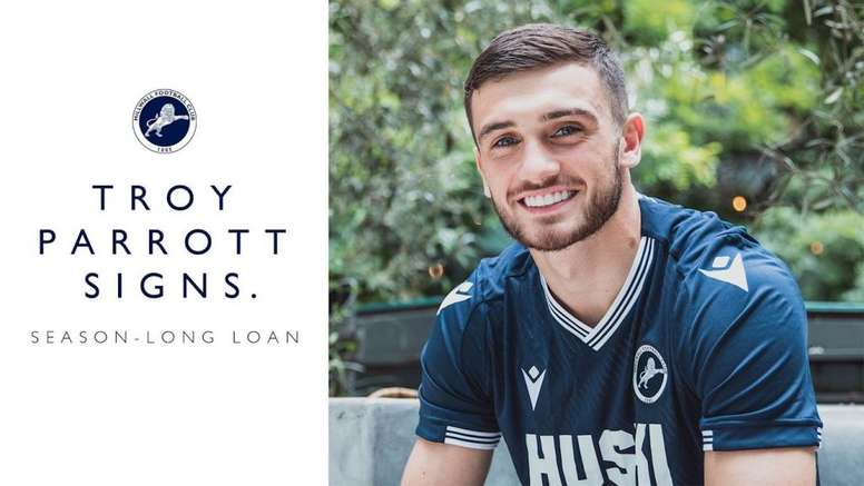 Troy Parrott will play out on loan at Millwall. Twitter/MillwallFC