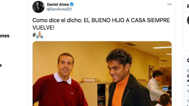 Dani Alves unió a su equipo de eSports al Sevilla. Captura/Twitter/DaniAlvesD2