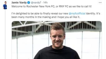 Comienza la historia del Rochester New York FC, el equipo de Jamie Vardy. Twitter/vardy7