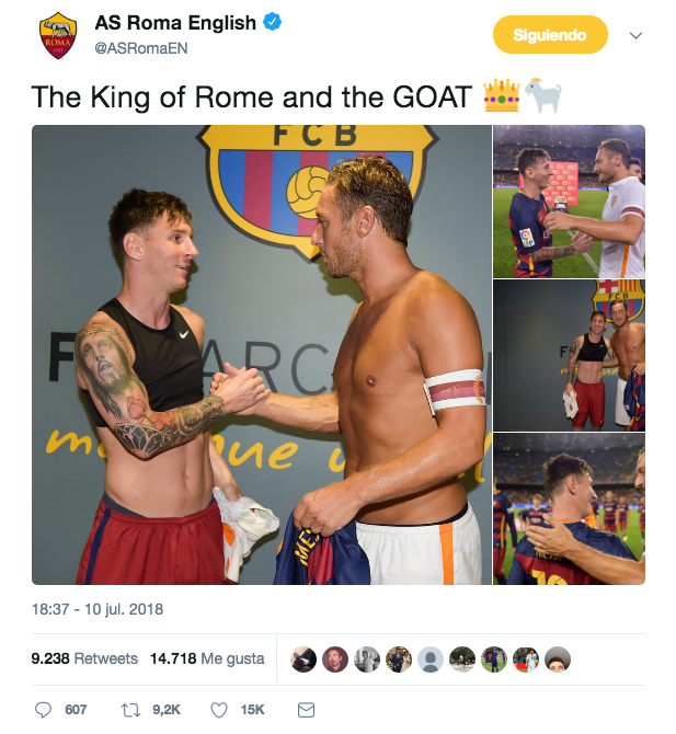 Roma took aim at Ronaldo. Twitter/ASRomaEN