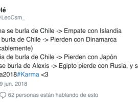 La venganza se sirve en un plato frío en Chile. Twitter/LeoCsm_