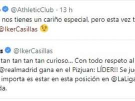 L'Athletic Bilbao reprend Casillas après son oubli ! Twitter/AthleticClub