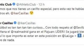 L'Athletic Bilbao reprend Casillas après son oubli ! Twitter/AthleticClub