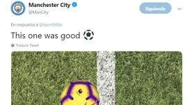 Les supporters de Liverpool se sont empressés de commenter le tweet de City. Twitter/ManCity