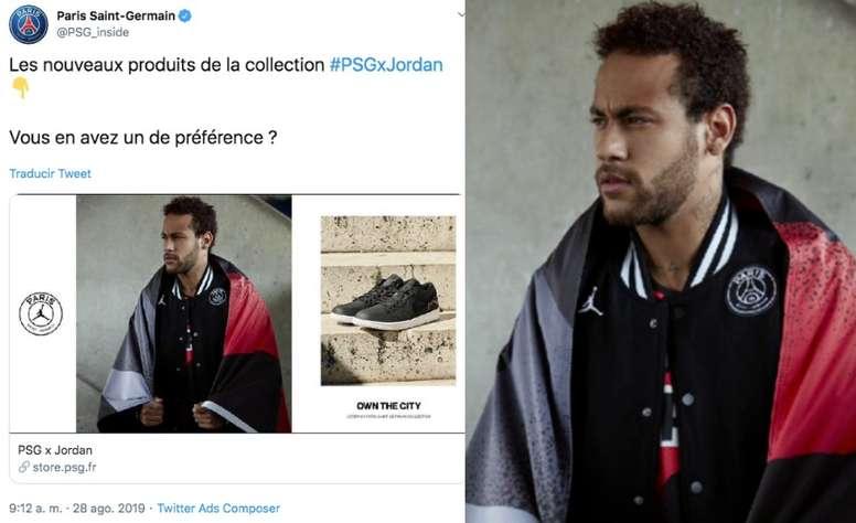 Psg Still Using Neymar In Their Merch Besoccer