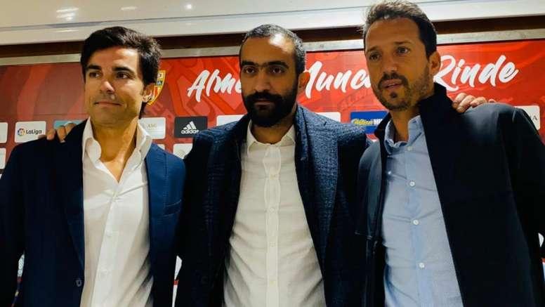 El Almería presentó a Mario Silva y Fernando Santos. UDAlmería