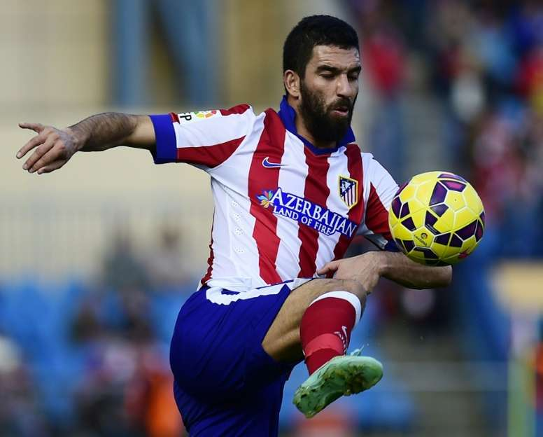 9b10fdc4c03 Pin Turkish international Arda Turan, seen here in action with Atletico  Madrid in November 2014,