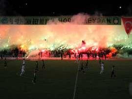 Turkish Regional Amateur League fans go mad for their team. Goal