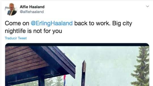 Il padre di Haaland critica il figlio. AlfieHaaland