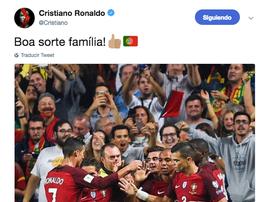 Tweet de Cristiano Ronaldo. Twitter/Cristiano