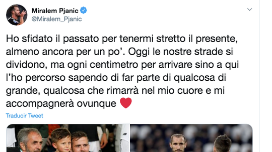 Pjanic saluta la Juventus. Twitter/MiralemPjanic
