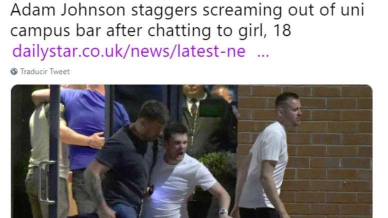 Adam Johnson is once again in trouble. Twitter/DailyStar