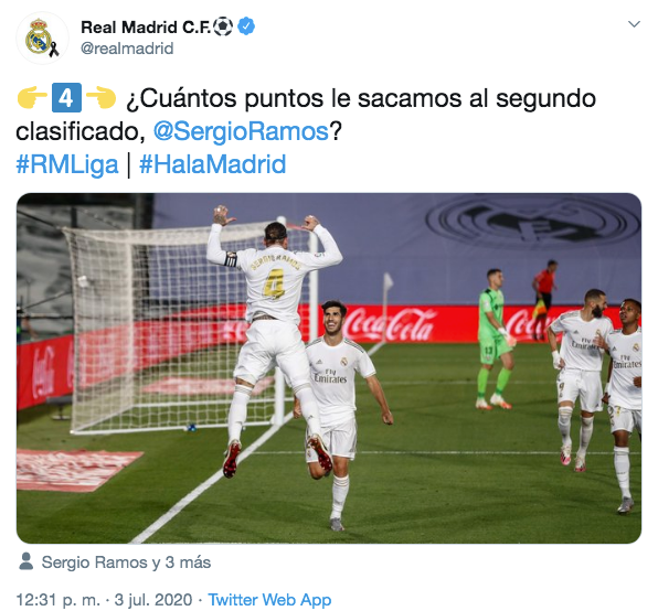 Le Real Madrid se paye le Barça. Twitter/realmadrid