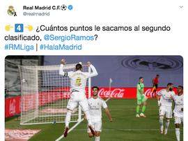 Real Madrid, o mestre da zoeira. Twitter/realmadrid
