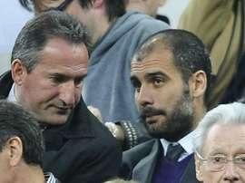 Begiristain y Guardiola se reunieron en Amsterdam. Twitter
