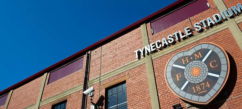 Tynecastle Stadium, the home grounds of Hearts. Twitter