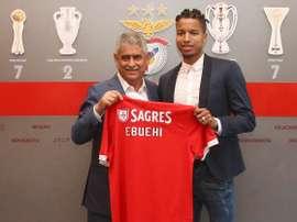 Tyronne Ebuehi, o novo jogador do Benfica. Twitter/SLB