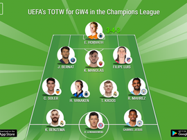 UEFA Champions League Team of the Week Gameweek 4. BeSoccer
