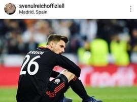 Ulreich asked for forgiveness on his social media. Instagram/Ulreich