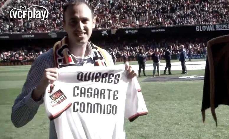 El club valencianista recordó el 14 de febrero de 2015. Captura/ValenciaCF