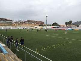 Un entrenamiento preparatorio del Olímpic de Xàtiva. Twitter