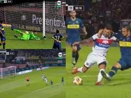 Un fallo de Andrada y un penalti de Izquierdoz, claves en el resultado. Captura/TNTSports