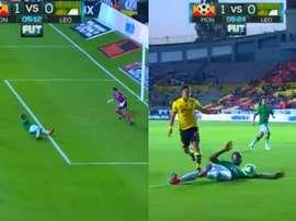 Un gol en propia puerta de Mosquera abrió la lata para Morelia. Captura/SkySports
