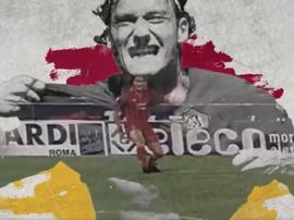 Roma's hommage to Totti. Twitter/ASRomaEN