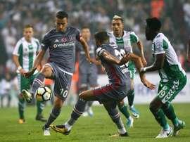 O Konyaspor venceu a partida por 1-2. Besiktas