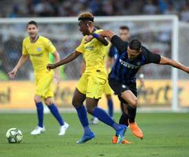 Chelsea and Inter do battle. AFP