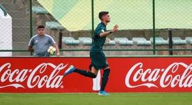 Un jugador del combinado italiano celebrar un tanto en la victoria ante México. Twitter/Vivo_Azzurro