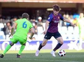 El Barça B se llevó los tres puntos de la visita del Levante B. Twitter/FCBarcelonaB