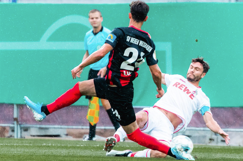 El Köln sufrió en la tanda de penaltis. Twitter/fckoeln