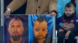 Un petit garçon a rendu hommage à son joueur préféré. Capture/Movistar