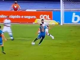 Fluminense tira al pozo a Coritiba. Captura/Globoesporte