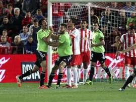 Una imagen del último Almería - Osasuna, de la temporada 13/14. Twitter