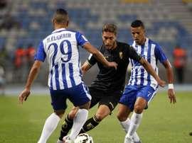 Una instantánea del partido entre el Ittihad de Tánger y el Granada